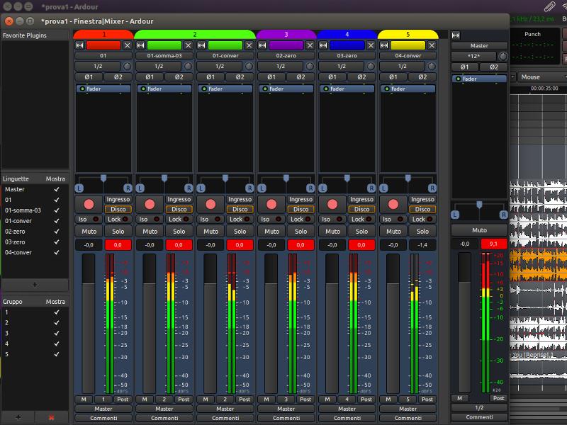 LINUX Ardour 5.4 Audio editor
