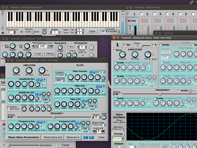 LINUX Yoshimi Synth emulator