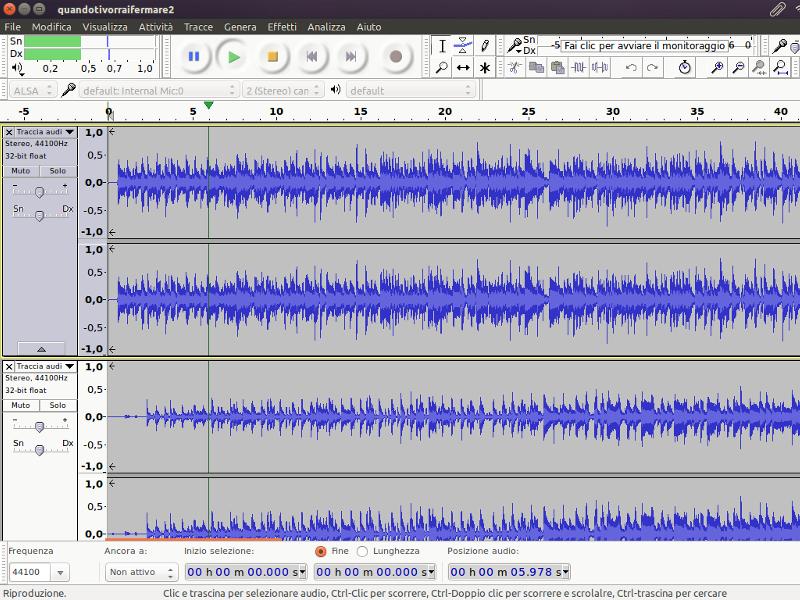 LINUX Audacity Audio editor
